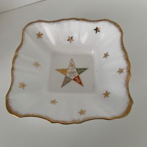 Collectible Masons OES Motif Pickle Dish